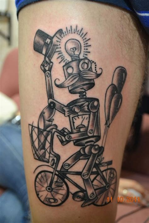 robotic tattoos 17 best ideas about robot on spaceship