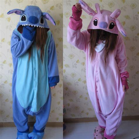 Dress Lilo Sticth Blue free shipping one size flannel stitch pajamas animal