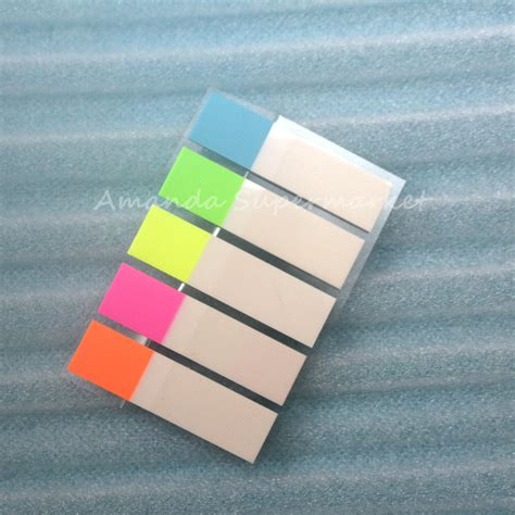 Sticky Notes Bookmark Post It Memo Catatan Tempel Karakter Sno005 5packs 500 small pages plastic sticker post it bookmark point it marker memo flags sticky