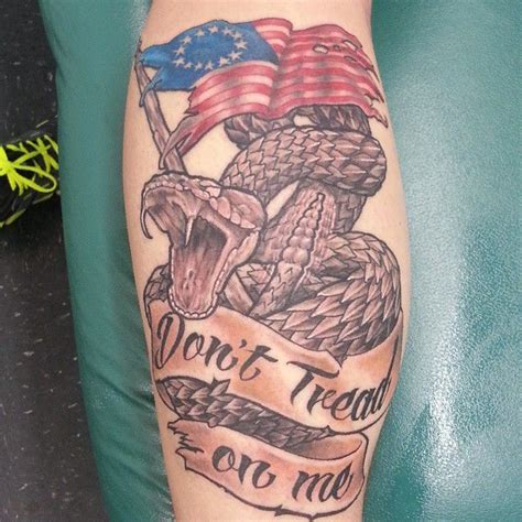 joshartist dont tread on me tattoo rattlesnake snake