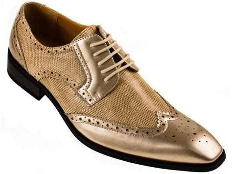 dress shoes gold faux leather s metallic gold lace up wing tip oxford