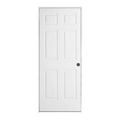 Home Depot Prehung Interior Doors Jeld Wen Smooth 6 Panel Primed Molded Single Prehung