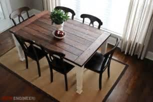 diy tisch diy farmhouse table plans rogue engineer