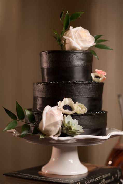 bold dramatic blush  black wedding ideas