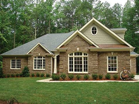 brick farmhouse plans brick ranch house plans brick one story house plans all