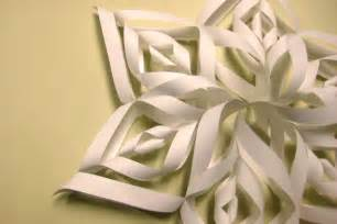 make a paper snowflake decoration country days