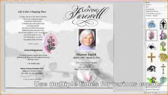 free funeral program template for microsoft word 8 free funeral program template microsoft word
