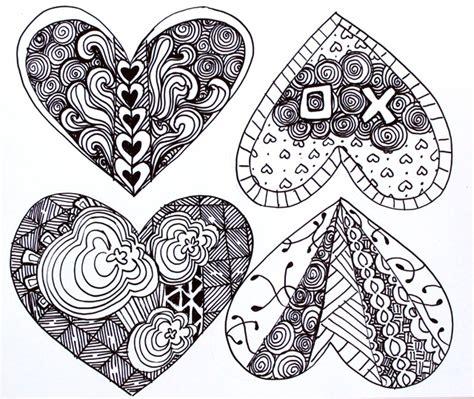zentangle pattern free punk projects zentangle valentines diy