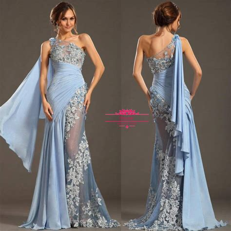 2016 women appliques formal evening gowns dresses one