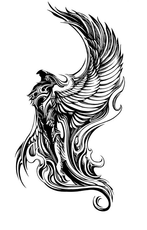 phoenix rising tattoo design 1000 ideas about rising on