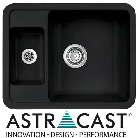black ceramic undermount kitchen sinks astracast vero 1 5 bowl black ceramic undermount kitchen