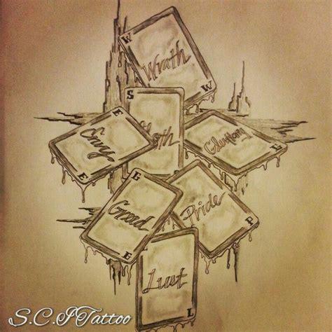 7 deadly sins tattoo designs 7 deadly sins sketch b sketches