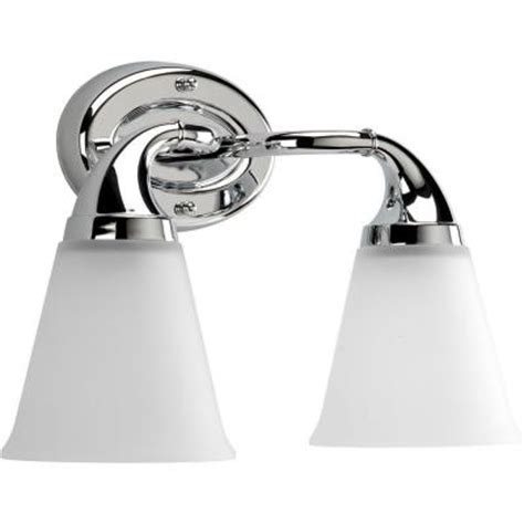 Chrome Vanity Lighting Bathroom Lighting The Home Depot Lights And Ls by Progress Lighting Lahara Collection 2 Light Chrome Vanity Fixture P2759 15 The Home Depot