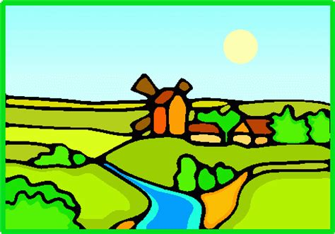 Country Farm House by Land Clip Art Cliparts Co