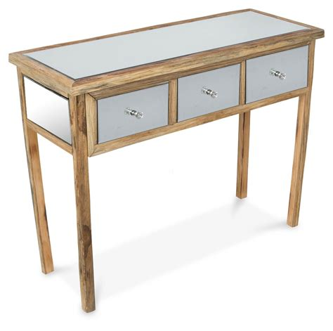 console table with drawers australia 3 drawer arbor wood mirror console inhouse collections