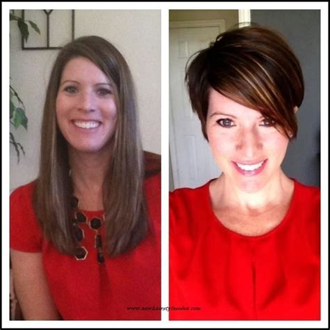 before and after pics of triangle face hairstyles before and after haircut haircuts gallery pinterest