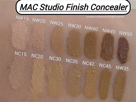 Mac Nw25 Foundation mac studio finish concealer review swatches of shades