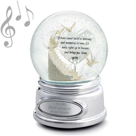 personalized memorial stairway snow globe by things