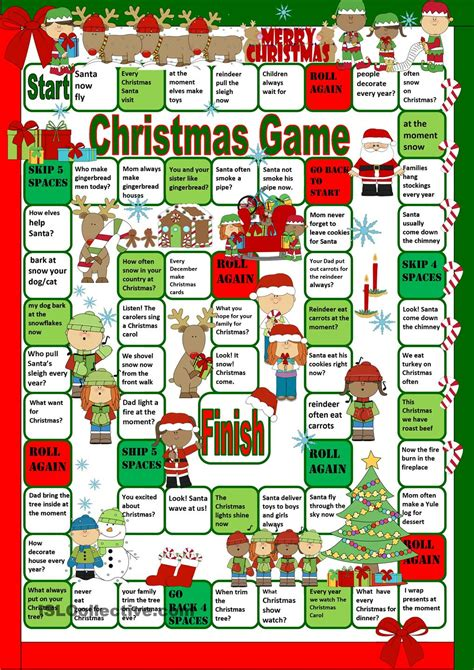 printable board games time valanglia a funny christmas board game printable