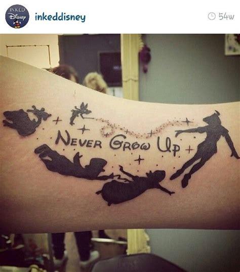 peter pan never grow up tattoo tatoos pinterest