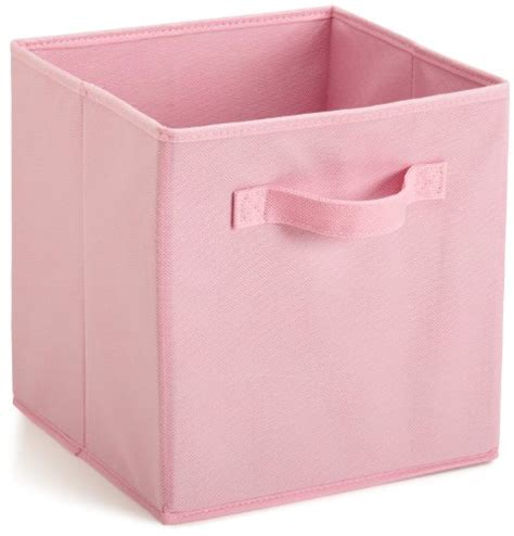 pink canvas storage drawers closetmaid 4468 cubeicals fabric drawer pink import it all