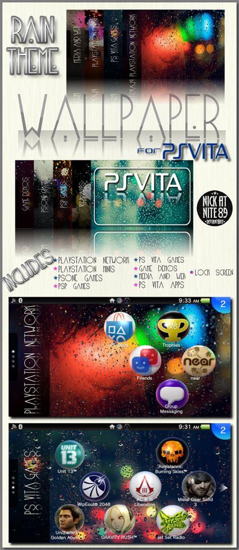 vita themes in store ps vita wallpaper pack rain theme by nickatnite89 on
