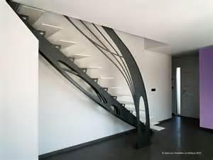 escalier design m 233 tal la stylique