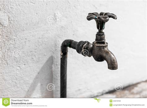 is bathroom tap water drinking water old tap water stock photo image of metal closeup gold