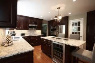 Dark Kitchen Cabinets With Light Granite Countertops by 20 Beautiful Dark Cabinets Light Countertops Design Ideas