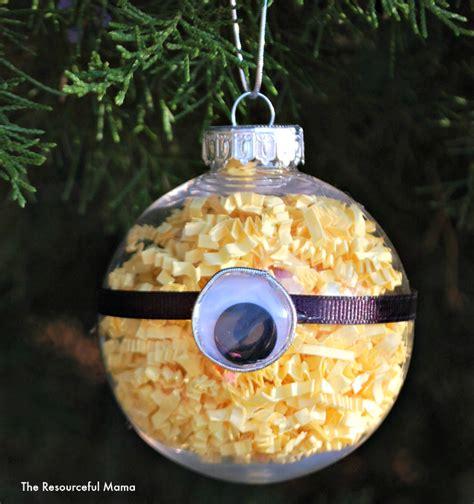 minion homemade christmas ornament  resourceful mama