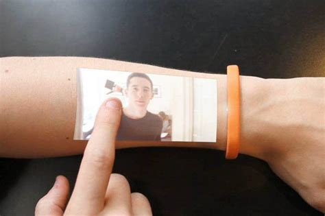 new technology could turn your skin into a touch screen new techy bracelet turns skin into phone screen daily star