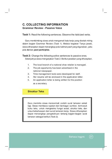 Application Letter Struktur Buku Pegangan Guru Bahasa Inggris Sma Kelas 12 Kurikulum 2013
