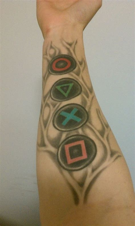 xbox tattoo playstation tattoos
