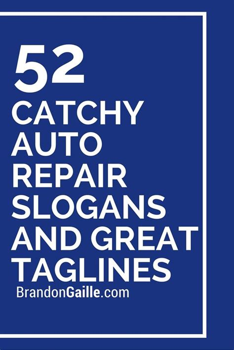 Auto Slogans 52 catchy auto repair slogans and great taglines autos