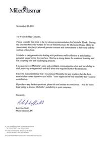 Letter Of Recommendation R Sheffield Job Search