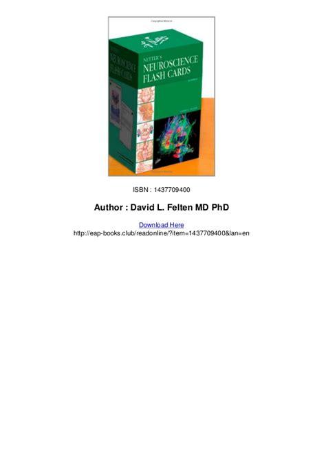 Cd E Book Basic Clinical Neuroscience 3e netters neuroscience flash cards 2e pdf