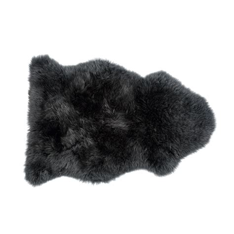 black sheepskin rug sheepskin rug feather black