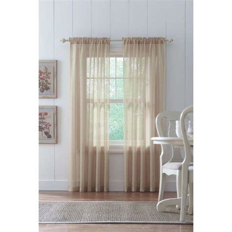home decorators collection sheer sand rod pocket printed home decorators collection sand highline textured sheer