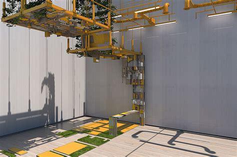 designboom vigilism installation follies by vigilism examine architectural tropes
