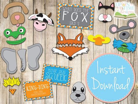 free printable photo booth props animals 18 best images about props on pinterest baby shower