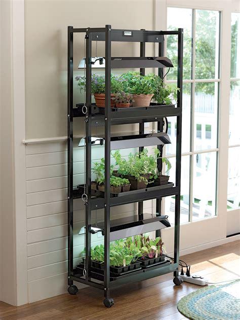 Stack N Grow Light System Shelf Height Extender Indoor Plant Shelves