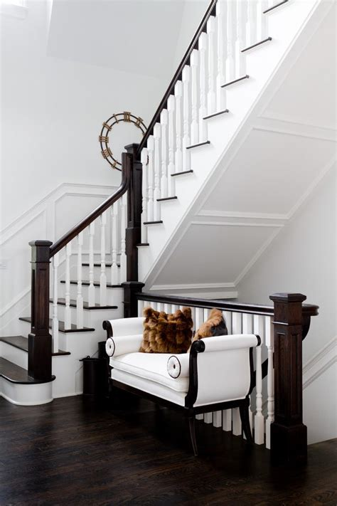 banister lights dark wood banister staircase contemporary with light wood