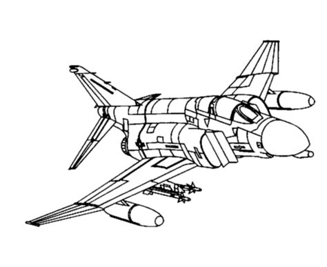 free coloring pages of jet fighter plane