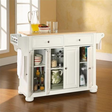 natural wood kitchen island crosley furniture alexandria natural wood top kitchen