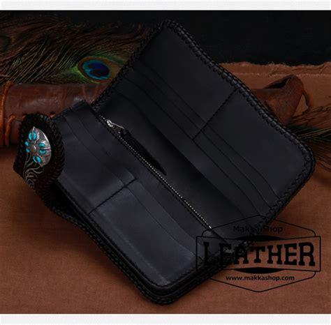 leather trucker wallet pattern leather trucker biker wallet makkashop