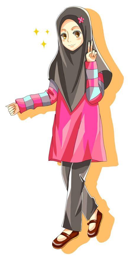 happy hijabi images  pinterest anime