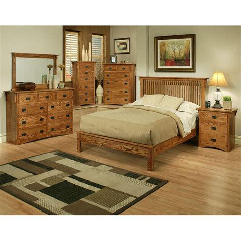 oak king bedroom set mission oak rake east king bedroom set barr s furniture