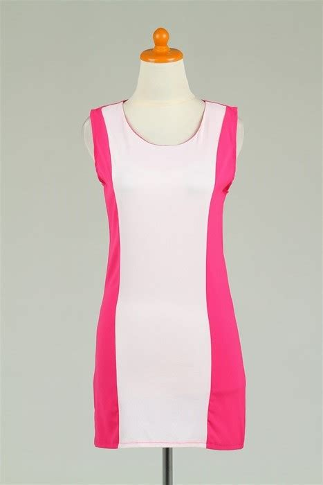 Impor Import Murah Pink 57401815 mini dress import lengan buntung pink murah