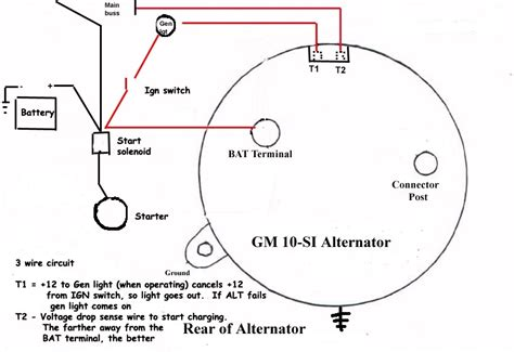 gm 3 wire alternator wiring diagram fuse box and wiring