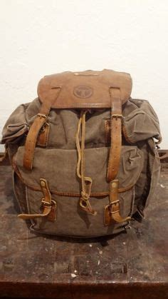 Fashion Backpack 3097 vintage wwii world war 2 dated 1942 us army canvas leather